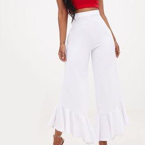Pretty Little Thing White Shape Carmelia Pants